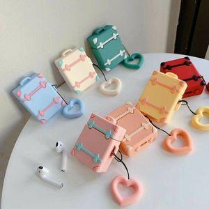 Airpods Case Mini Suitcase Silicone